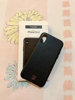 Case iPhone X / Xs - Spigen Original La Manon Calin Leather