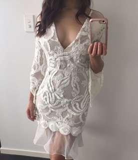 Asilio White Rose Midi Dress RRP $549