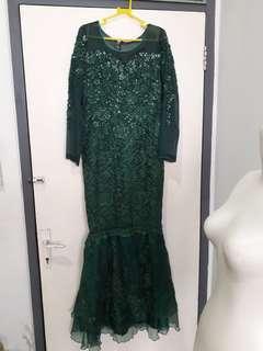 Gaun Dress Pesta Mermaid