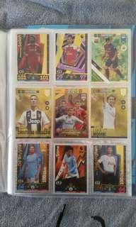 Football cards. Match attax