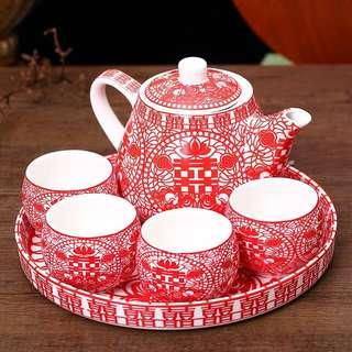 Wedding Tea Ceremony Teapot Set