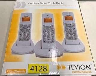 Cordless phone triple pack