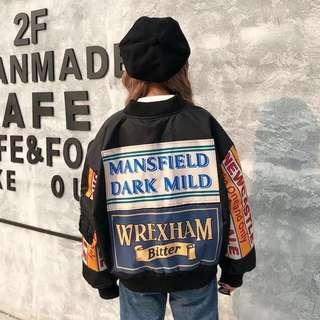 ❗️ mansfield dark mild black baseball jacket