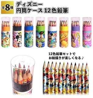 🚚 日本迪士尼正版12色筆筒
