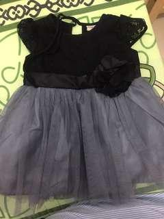 Dress bayi hitam abu