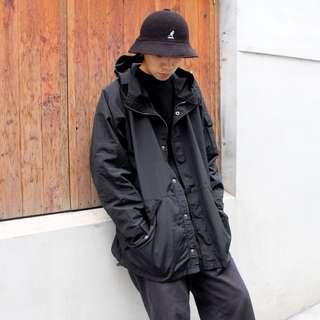 私路古著 機能工裝 風衣外套 忍者裝 黑色