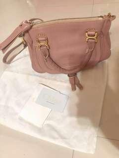 Chloe handbag 斜揹袋 dirty pink color