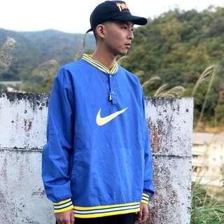 🚚 私路古著 Nike半開襟運動衫 防風 藍/黃