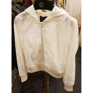 e1b6f54be white leather jacket | Women's Fashion | Carousell Singapore