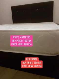 Bed feame and mattress