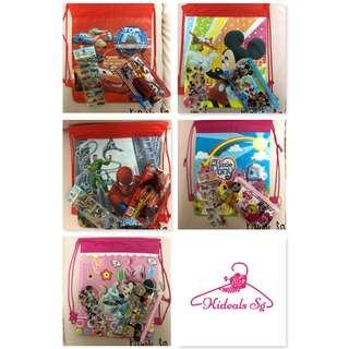 Drawstring bag and pencil case kids Goodie bag Bundle Set