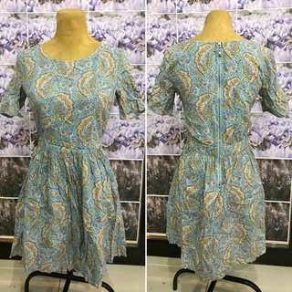 Skyblue Paisley Dress