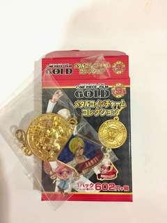 One piece film (GOLD) Metal charm collection :Sanji