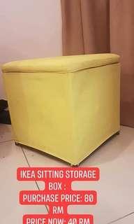 IKEA Storage Box with sitting top