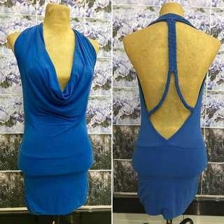 Low back Blue Dress