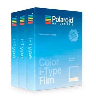 COLOR I-TYPE FILM SUMMER BLUES EDITION TRIPLE PACK