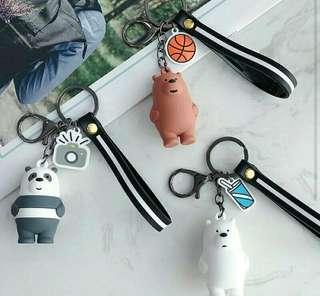 We Bare Bears Keychain