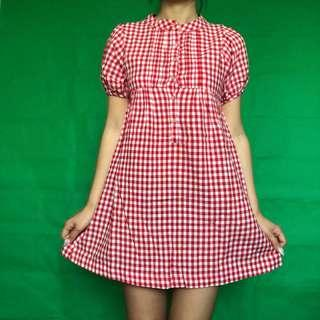 Lova Plaid Mini Dress