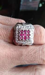 Jual cincin sirkon batu rubi murah 250