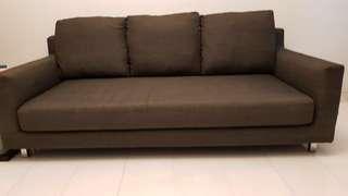 3 seater fabric sofa in grey