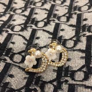 """Gorgeous """"dior"""" rhinestone earrings"""