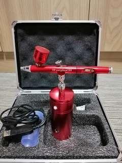 Portable airbrush for spraying kit