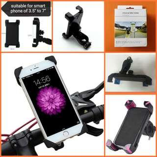 🆕Universal smart phone holder for bicycle bike e.scooter motorbike PMD, colour; pink, blue. BNIP自行车电动车摩多车智能手机通用座柄
