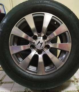 "15""Sports Rim with tyres 5×114.3(honda stream)"