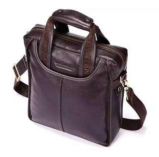 Genuine cowhide leather shoulder bag