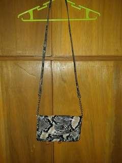 Nine West Snakeskin sling bag