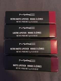❤️ Mac Red Lipsticks Lot (BNIB)