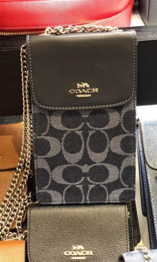 199 LIMITED STOCKS ONLY! Coach Chain Phone Case Sling Bag- Signature NEW DESIGN ...