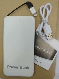 全新 卡片型充電寶 自帶線 連iPhone轉換頭