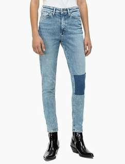 Cotton On Denim Two Tone Patch Jeans