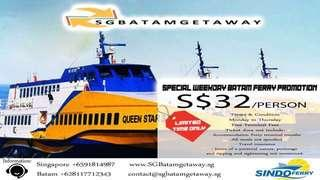 Batam Ferry Tickets 2 Way at $32 only