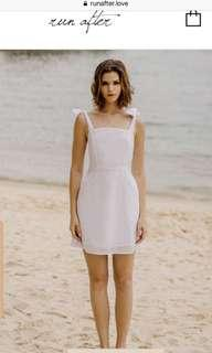 Runafter Daybreak Eyelet Dress in White S