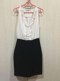 Formal dress, black and white