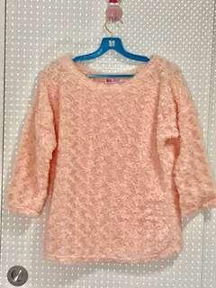 Peach color knitted top