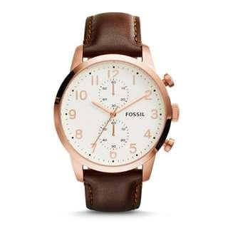 [ Weekend OFFER ] Fossil Townsman Chronograph Brown Leather Watch