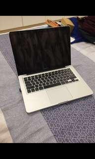 APPLE MACBOOK PRO 13吋i5雙核 500G 有光碟機(LOGO會發光)