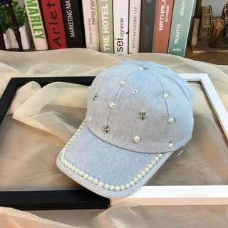 轉 全新 珍珠牛仔棒球帽