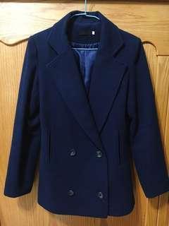 🚚 特賣🎉韓版小個子女孩藏青完美大衣