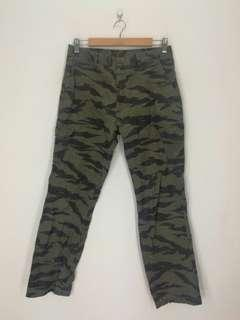 Tiger strap cargo pants