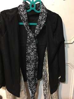 薄軟領巾罩衫#半價衣服市集