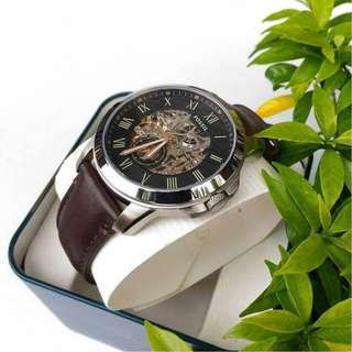🚚 [ Weekend OFFER ] Original Fossil Watch Grant Automatic Dark Brown Leather Watch