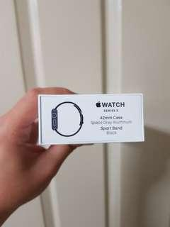 BNIB sealed Apple Watch Series 3 - Space Grey 42mm - GPS only