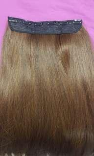 Honey brown straight hair extensions