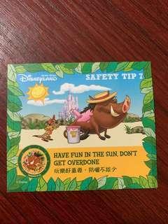 迪士尼Safety Tip 7 貼紙