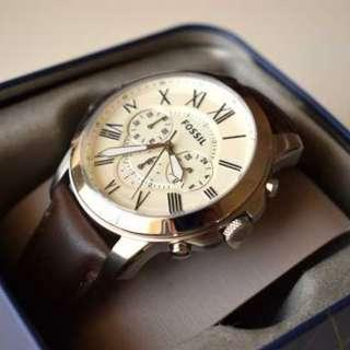 [ Weekend OFFER ] Fossil Grant Chronograph Brown Leather Men's Watch