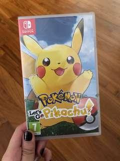 Nintendo Switch Lets Go Pikachu Game